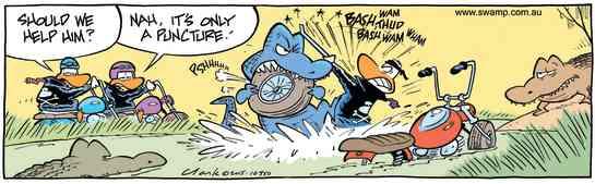 Swamp Cartoon - Wild Duck Puncture ComicMarch 2, 2015