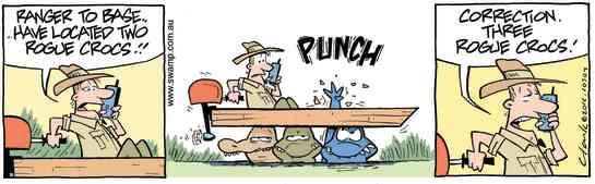 Swamp Cartoon - Located Two Rogue Crocs comicApril 23, 2016