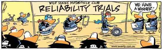 Swamp Cartoon - Wild Ducks Reliability Trials ComicSeptember 5, 2016