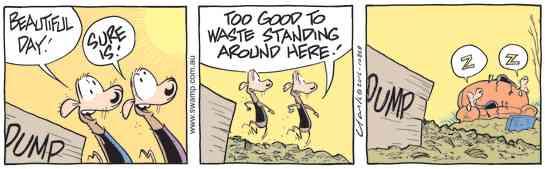 Swamp Cartoon - Swamp Rats Beautiful Day ComicOctober 27, 2016