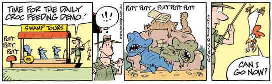 Swamp Cartoon - Croc Feeding Demo ComicNovember 26, 2018