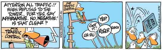 Swamp Cartoon - Air Traffic Control AffirmativeFebruary 27, 2019