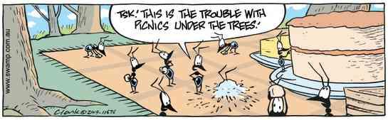 Swamp Cartoon - Ants Picnic HazardJune 1, 2019