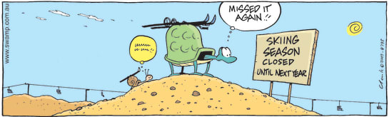 Swamp Cartoon - Late in the SeasonOctober 19, 2009