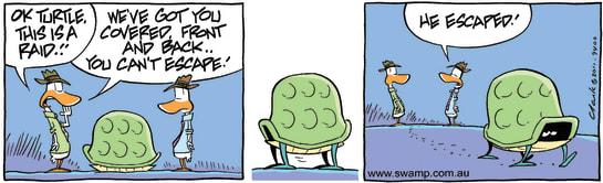 Swamp Cartoon - Stake Out Fun 3October 19, 2011