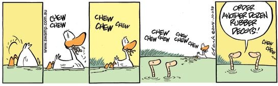 Swamp Cartoon - Tasty Chewy Worms PrankFebruary 5, 2014