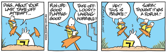 Swamp Cartoon - Ding Duck Assessment ComicDecember 17, 2014