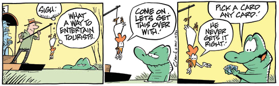 Swamp Cartoon - Old Man Croc Feeding ComicApril 22, 2015