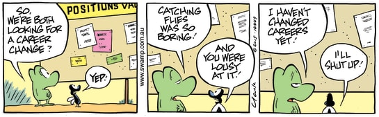 Swamp Cartoon - Mort Frog Career Change ComicJune 26, 2015