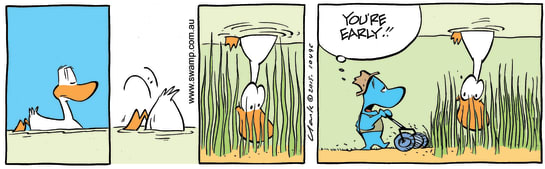 Swamp Cartoon - Duck Feeding Ground ComicAugust 20, 2015