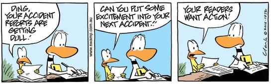 Swamp Cartoon - Ding Duck ExcitementMay 20, 2016