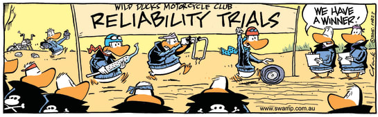 Swamp Cartoon - Wild Ducks Reliability Trials ComicSeptember 5, 2016