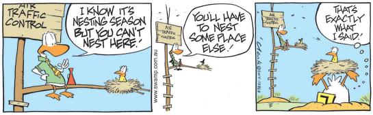 Swamp Cartoon - Air Traffic Control NestOctober 18, 2016