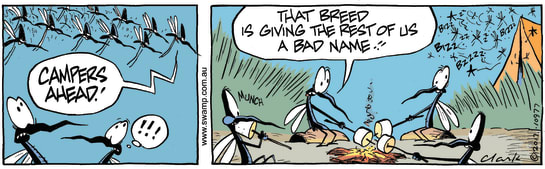 Swamp Cartoon - Mosquitoes Bad Name ComicMarch 4, 2017