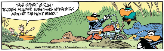 Swamp Cartoon - Wild Ducks Around Bend ComicNovember 1, 2017