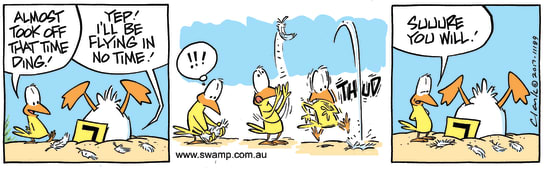 Swamp Cartoon - Ding Duck Flight Feathers ComicNovember 7, 2017