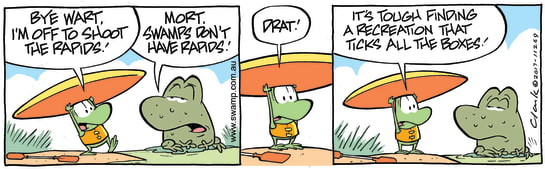 Swamp Cartoon - Mort Frog Rapids ComicFebruary 10, 2018