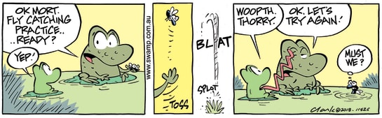 Swamp Cartoon - Mort Frog Sorry ComicAugust 11, 2018