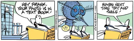Swamp Cartoon - Text Book Mosquito ComicJanuary 16, 2019
