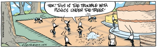 Swamp Cartoon - Ants Picnic HazardJune 1, 2019