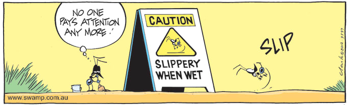 Swamp Cartoon of the Day - Ant Caution Danger Sign