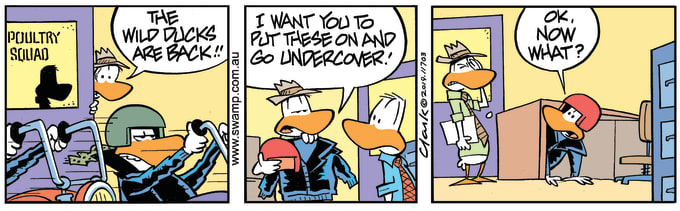 Swamp Cartoon of the Day - Poultry Squad Undercover Comic