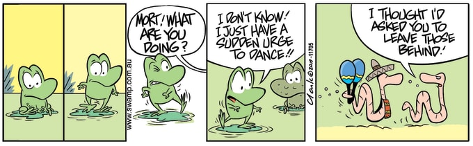 Swamp Cartoon of the Day - Mort Frog Urge