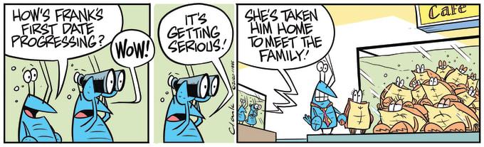 Swamp Cartoon of the Day - Frank Crayfish to Meet Family