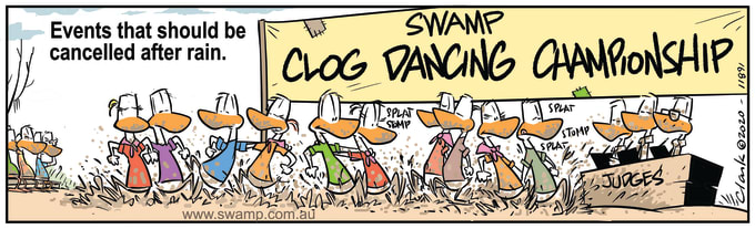 Swamp Cartoon of the Day - Clog Dancing Championship