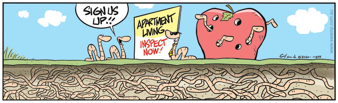 Swamp Cartoon of the Day - Sign us up for Apartment Living