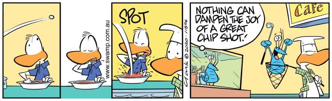 Swamp Cartoon of the Day - Bob Crayfish Chip Shot