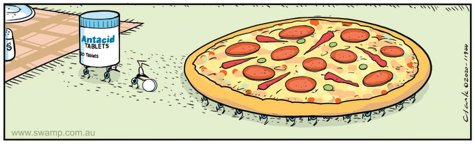 Swamp Cartoon of the Day - Ants Spicy Pizza Theft