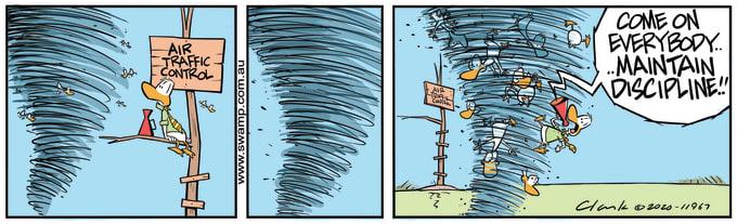 Swamp Cartoon of the Day - Air Traffic Control Discipline