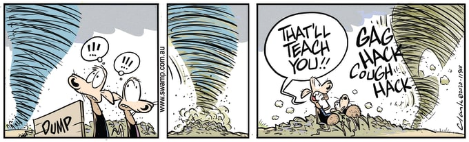 Swamp Cartoon of the Day - Tornado Chokes