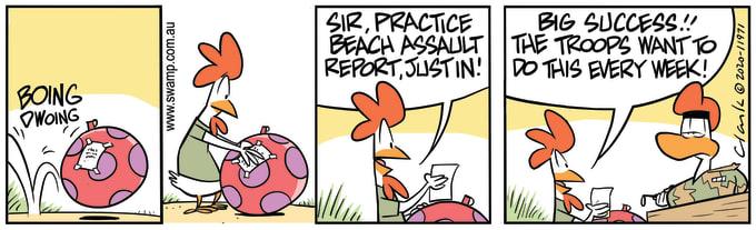 Swamp Cartoon of the Day - Practice Beach Assault