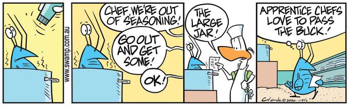 Swamp Cartoon of the Day - Bob Crayfish Seasoning