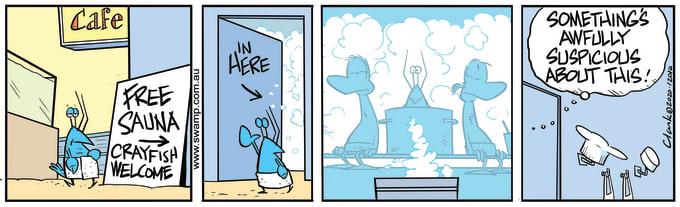 Swamp Cartoon of the Day - Bob Crayfish Sauna