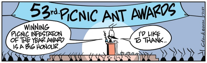 Swamp Cartoon of the Day - Annual Picnic Ant Awards