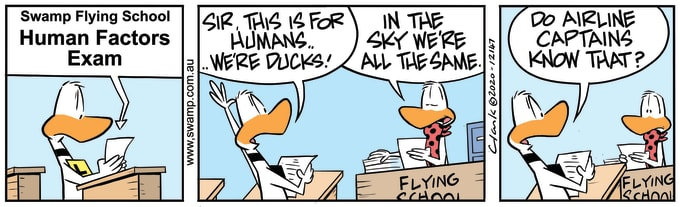 Swamp Cartoon of the Day - Human Factors Exam