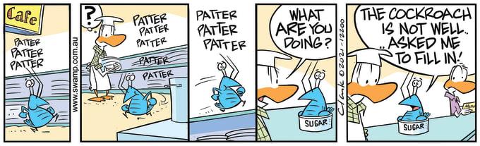 Swamp Cartoon of the Day - Bob Crayfish Relief Duties