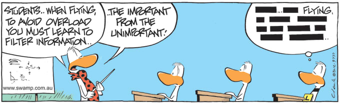 Swamp Cartoon of the Day - Ding Duck is Listening