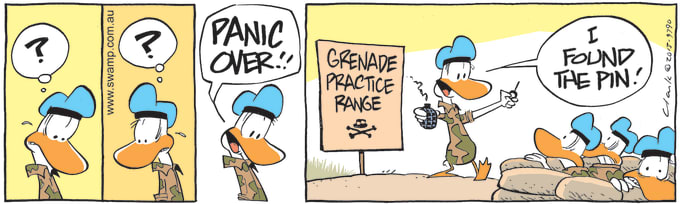 Swamp Cartoon of the Day - Army Duck Declares Panic Over