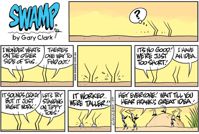 Swamp Cartoon of the Day - Ants on Tippy Toes
