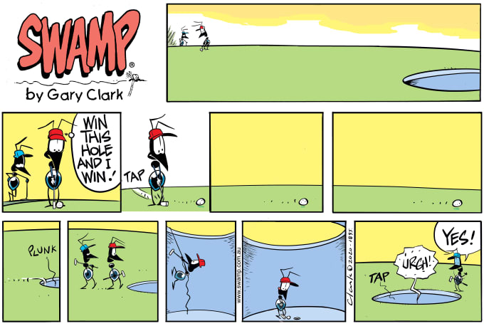 Swamp Cartoon of the Day - Just One More Putt