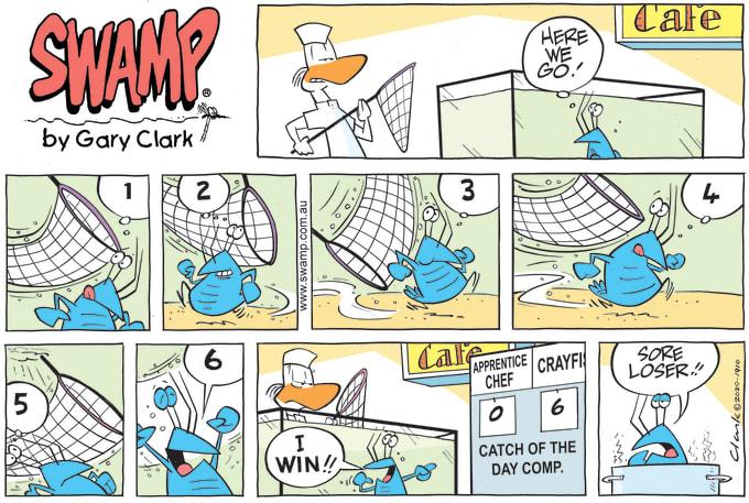 Swamp Cartoon of the Day - Apprentice Chef Sore Loser