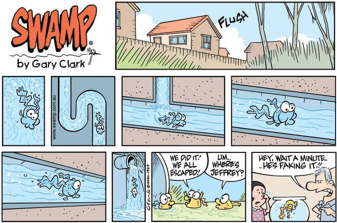 Swamp Cartoon of the Day - The Great Drain Pipe Escape