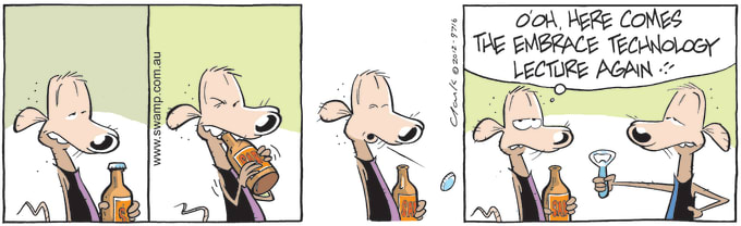 Swamp Cartoon of the Day - Chives Rat Opens Bottle With Teeth