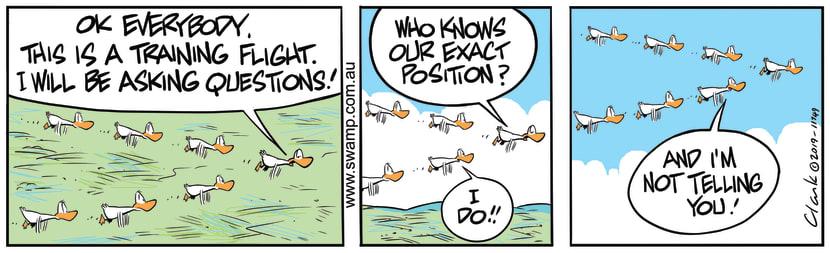 Swamp Cartoon of the Day - Aviator Ducks Training FlightAugust 24, 2019
