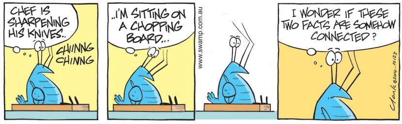 Swamp Cartoon of the Day - Bob Crayfish is Pondering his CircumstancesSeptember 22, 2021