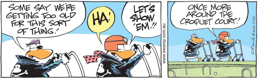 Swamp Cartoon of the Day - Wild Ducks are Getting Too OldJune 12, 2021